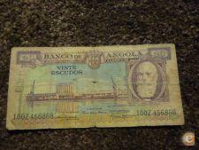 6868 ANGOLA 20$00 1956 SILVA PORTO