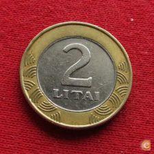 Lituânia Litva 2 litai 2001 KM# 112   *VT