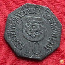 ROSENHEIM  10  pfennig  ND  Alemanha notgeld  496