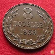 Guernsey 8 doubles 1938 KM# 14 w