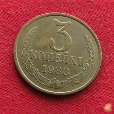 URSS Rússia 3 kopeks 1988 Y# 128a    *V