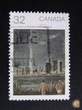 Canadá selo usado