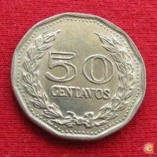 Colômbia 50 centavos 1973 KM# 244.1  rara *V