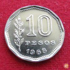 Argentina 10 pesos 1968 KM# 60   *V