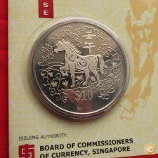 Singapura Singapore 10 $ 2002 Zodiaco Ano de cavalo
