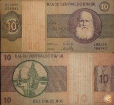 BRA193& - BRASIL - 10 CRUZEIROS - (1970)   S145