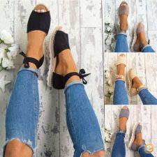 Sandálias de atar nas pernas rasteiras 3 cores