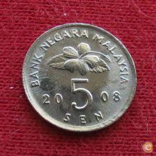 Malásia Malaysia 5 sen 2008 KM# 50    *V