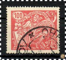 CHECOSLOVÁQUIA -  SCOTT 92 (o)  AGRICULTURA E CIÊNCIA - 1923