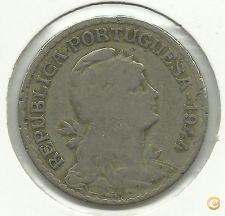 PORTUGAL - 1 ESCUDO - 1944 - ALPACA - USADA - FOTOS