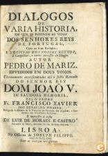 DIALOGOS DE VARIA HISTORIA  EM QUE SE REFEREM AS VIDAS DOS S