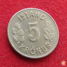 Islândia Iceland 5 kronur 1970 KM# 18     *V