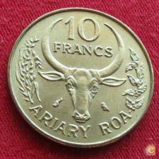 Madagáscar 10 francs 1972 KM# 11 FAO