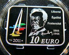 França 10 euro 2011 Pintor V. Kandinsky Proof Prata