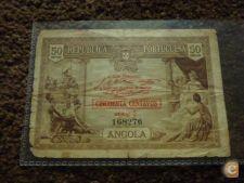 8276 ANGOLA 50 CENTAVOS 1923 RARA