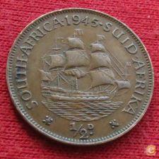 África do Sul RSA 1/2 penny 1945 KM# 24  Lt 547 *V