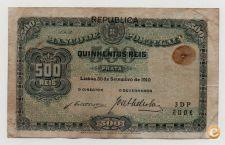PORTUGAL 500 REIS 1910 PICK 105 VER SCANS