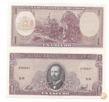 CHILE 1 ESCUDO 1964 PICK 136 UNC NOVA