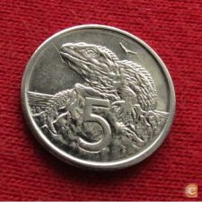 Nova Zelândia New Zealand 5 cents 1996 KM# 60  Lt 121  *V