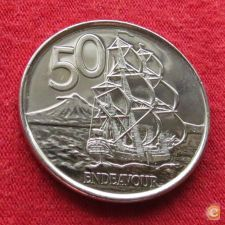 Nova Zelândia New Zealand 50 cents 2009 KM# 119a Endeavour