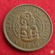 Nova Zelândia New Zealand 1/2 penny 1949 KM# 20   *V