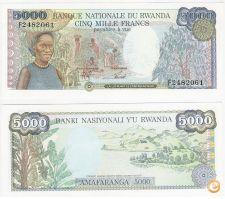 Ruanda Rwanda 5000 Francs 1988 P 22 UNC