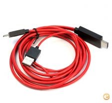 Cabo MHL USB HDMI Samsung S3 S4 S5 Note 3 Note 4 Stock