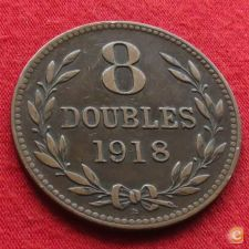 Guernsey 8 doubles 1918 KM# 14