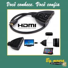 Hub Switch Splitter Tripla saida 3 portas HDMI Full HD 1080P