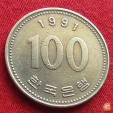 Coreia do Sul Korea 100 won 1991 KM# 35.2