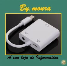 Adaptador de USB3.1 Type-C Male para VGA Female MHL + Audio