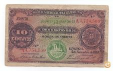 PORTUGAL MOÇAMBIQUE 10 CENTAVOS 1914 PICK 56  VER SCANS