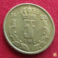 Luxemburgo 5 francs 1988 KM# 60.1 Luxembourg