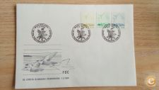 ALAND ISLANDS     ISLANDIA - SCOTT 3 SELOS  FDC ANO 1984