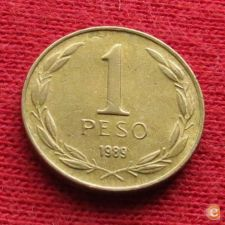 Chile 1 peso 1989 KM# 216.2