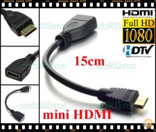 Cabo mini HDMI adaptador TV, PC, PS3, Satélite, playstation