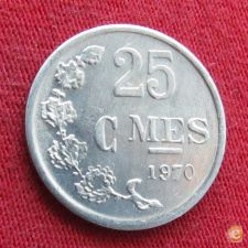 Luxemburgo 25 centimes 1970 KM# 45a.1 Luxembourg    *V