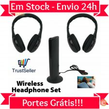 L039 Phones Auscultadores Headphones sem fios +Base Em Stock
