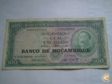 B- 63- MOÇAMBIQUE  100.00   1961  c/car      0.99