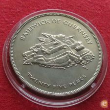 Guernsey 25 pence 1977 w