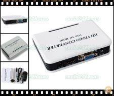 Box Adaptador conversor VGA e Audio para HDMI 1080P HDTV PC