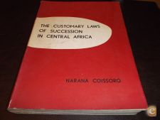 Customary Laws Of Succession Central Africa 1966 N.Coissoró