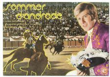 TAUROMAQUIA Sommer D'ANDRADE Postal anos 70