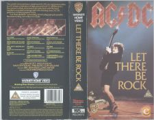 AC DC LET THERE BE ROCK AO VIVO CASSETE VIDEO VHS