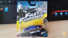 MATTEL HOT WHEELS - FORD GT-40  FAST  & FURIOUS 1/43  *NOVO*