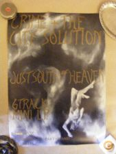 CRIME & THE CITY SOLUTION. JUST SOUTH HEAVEN. POSTER