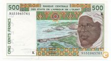 SENEGAL WEST AFRICAN STATES 500 FRANCS 1999 PICK 706 KE NOVA