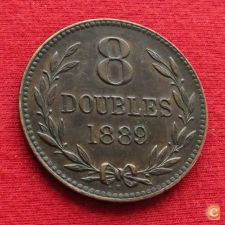 Guernsey 8 doubles 1889 w