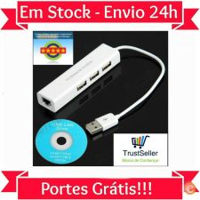 L219 Adaptador USB 2.0 - RJ45 3X USB Macbook Air Apple & PC