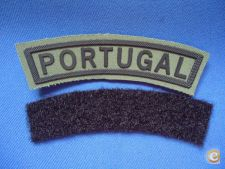 * EMBLEMA PANO PATCH OMBRO MILITAR PORTUGAL VERDE 98mm